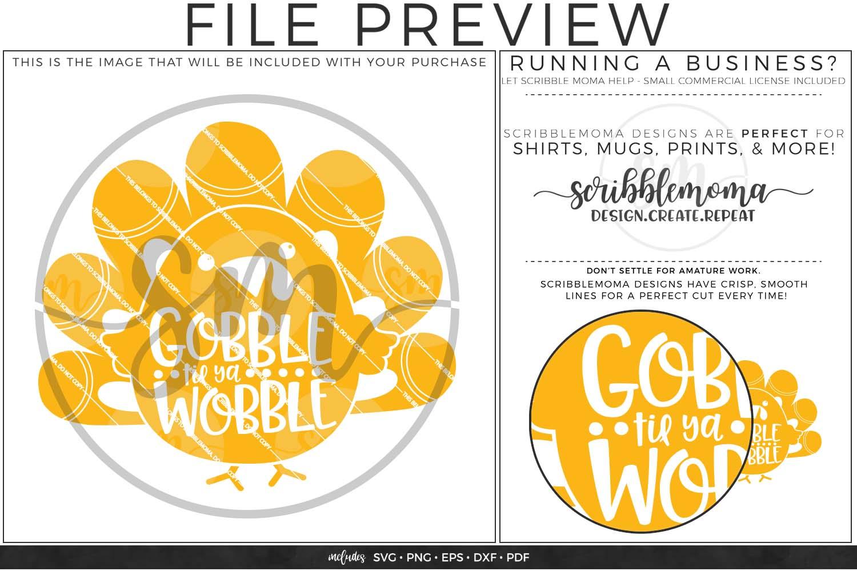 Gobble Til Ya Wobble SVG - Thanksgiving svg example image 2