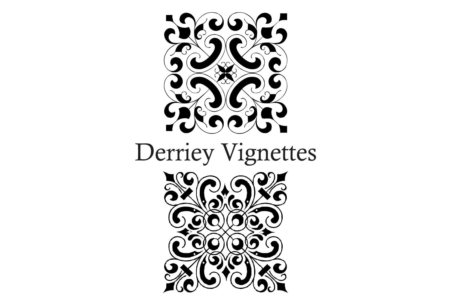 Derriey Vignettes Family Pack (5 fonts) example image 12