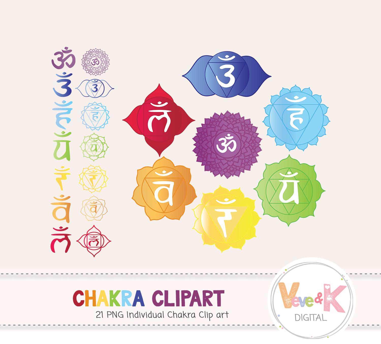 Chakra Clipart, Chakra Set, Mandala Clipart, Rainbow Clip Art, Yoga Clip Art, The seven chakras, Chakra Set, Mandala Set,  example image 2