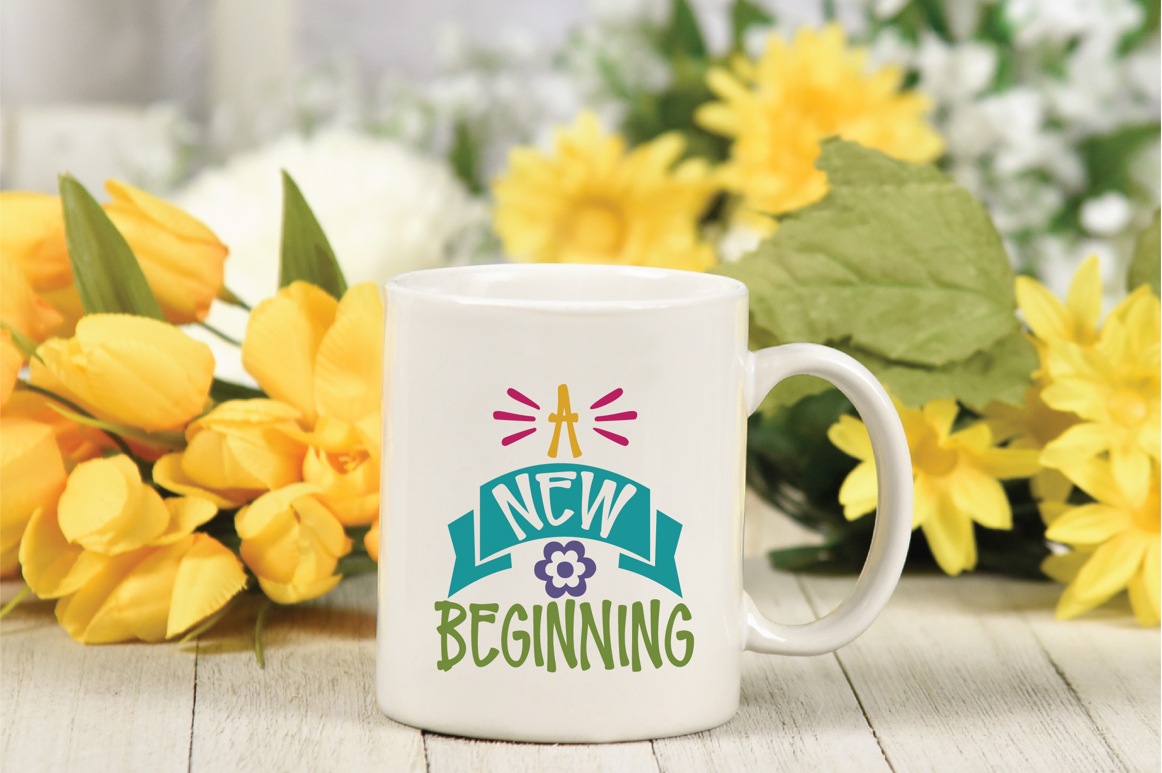 A New Beginning SVG Cut File - Spring SVG DXF EPS PNG JPG AI example image 3
