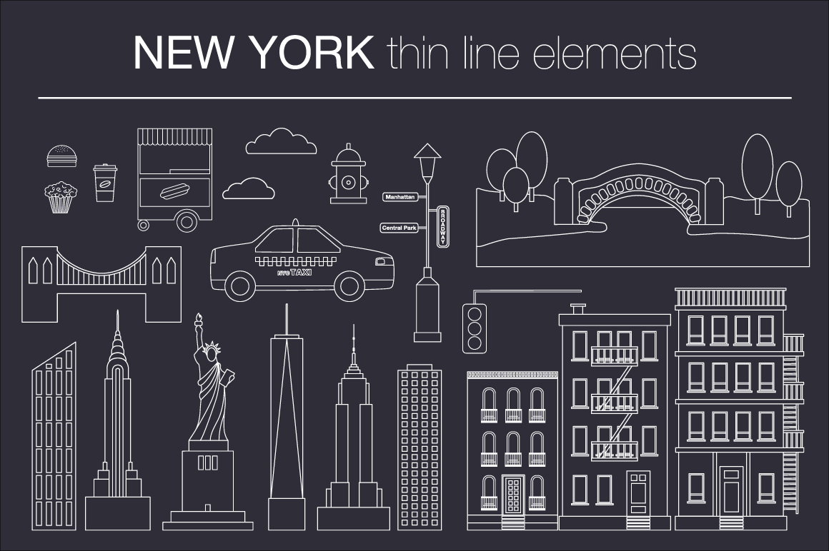NEW YORK vector collection example image 3