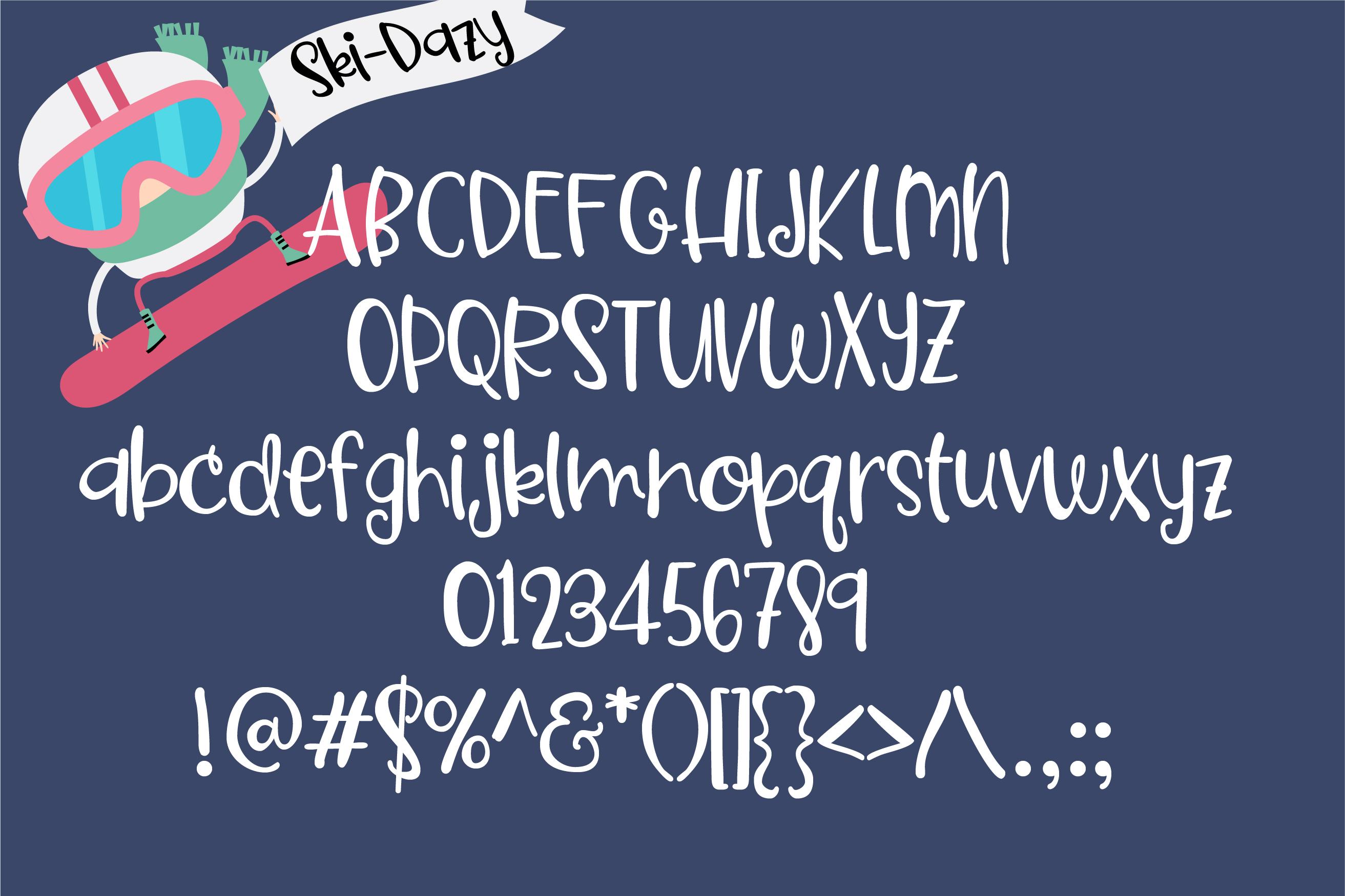 PN Ski-Doozy and Ski-Dazy Font Duo example image 2