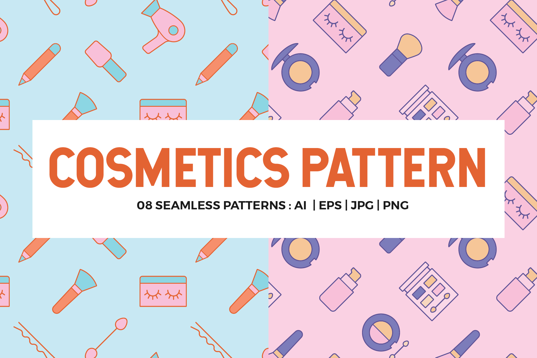 Cosmetics Seamless Patterns example image 1