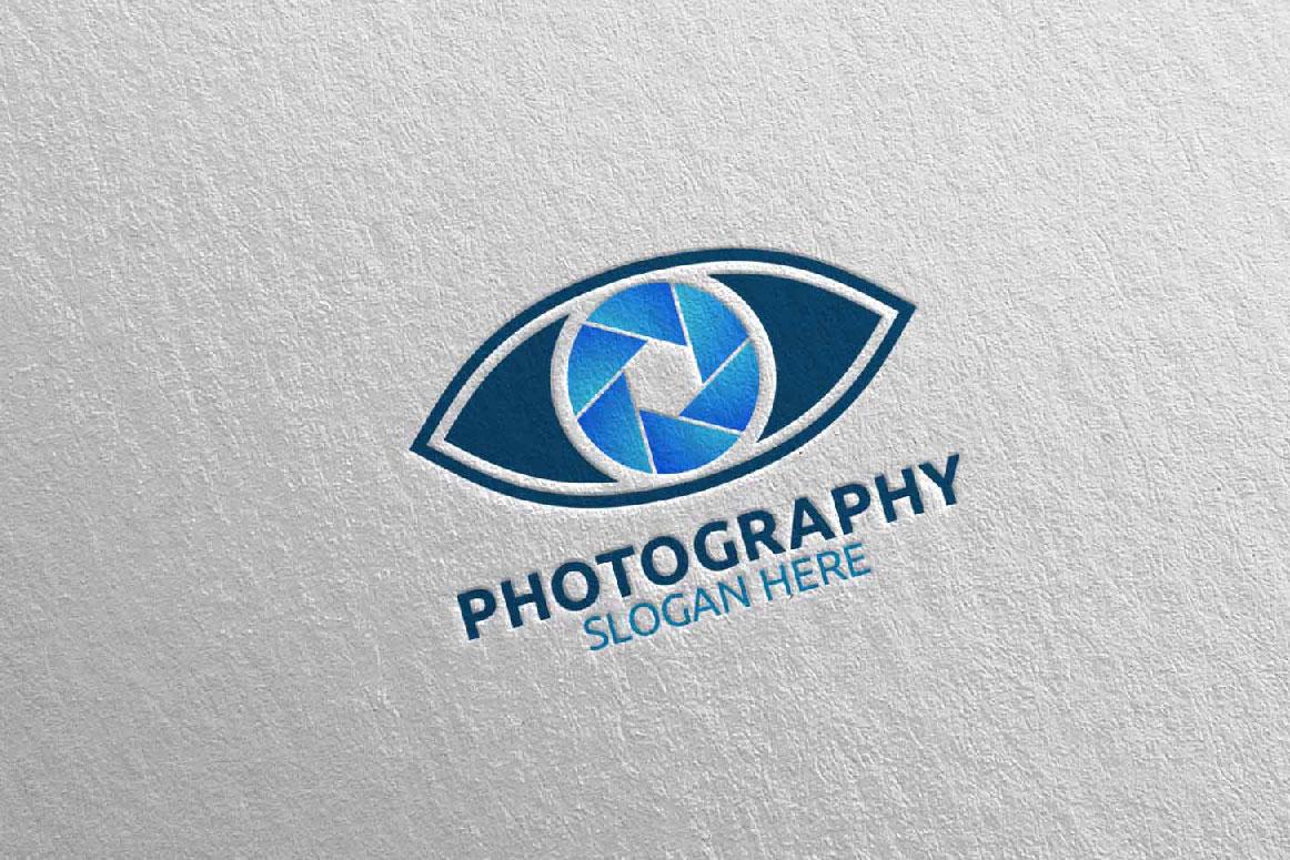 Eyes Camera Photography Logo 14 example image 2
