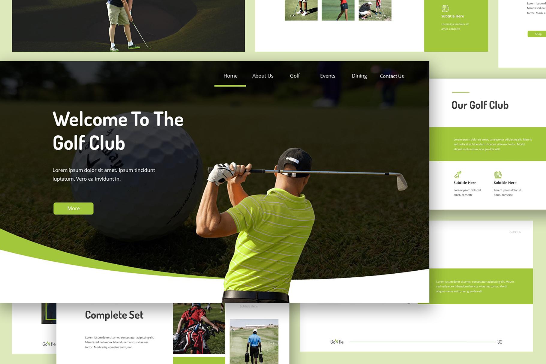 Golfie Golf Keynote Presentation example image 4