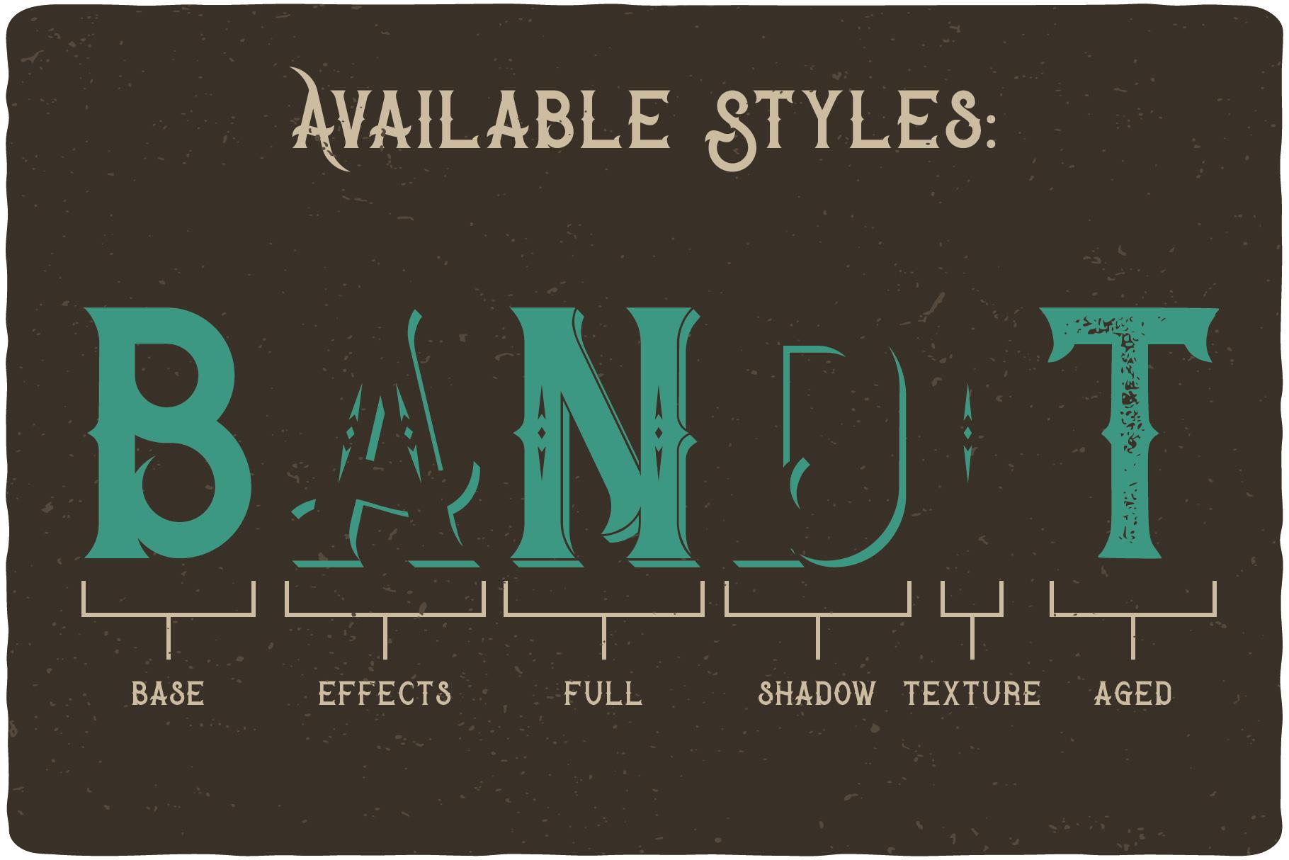 Bandidas - font and t-shirt designs example image 4