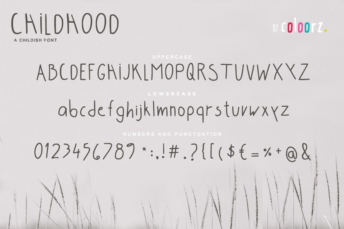 Childhood Font example image 3