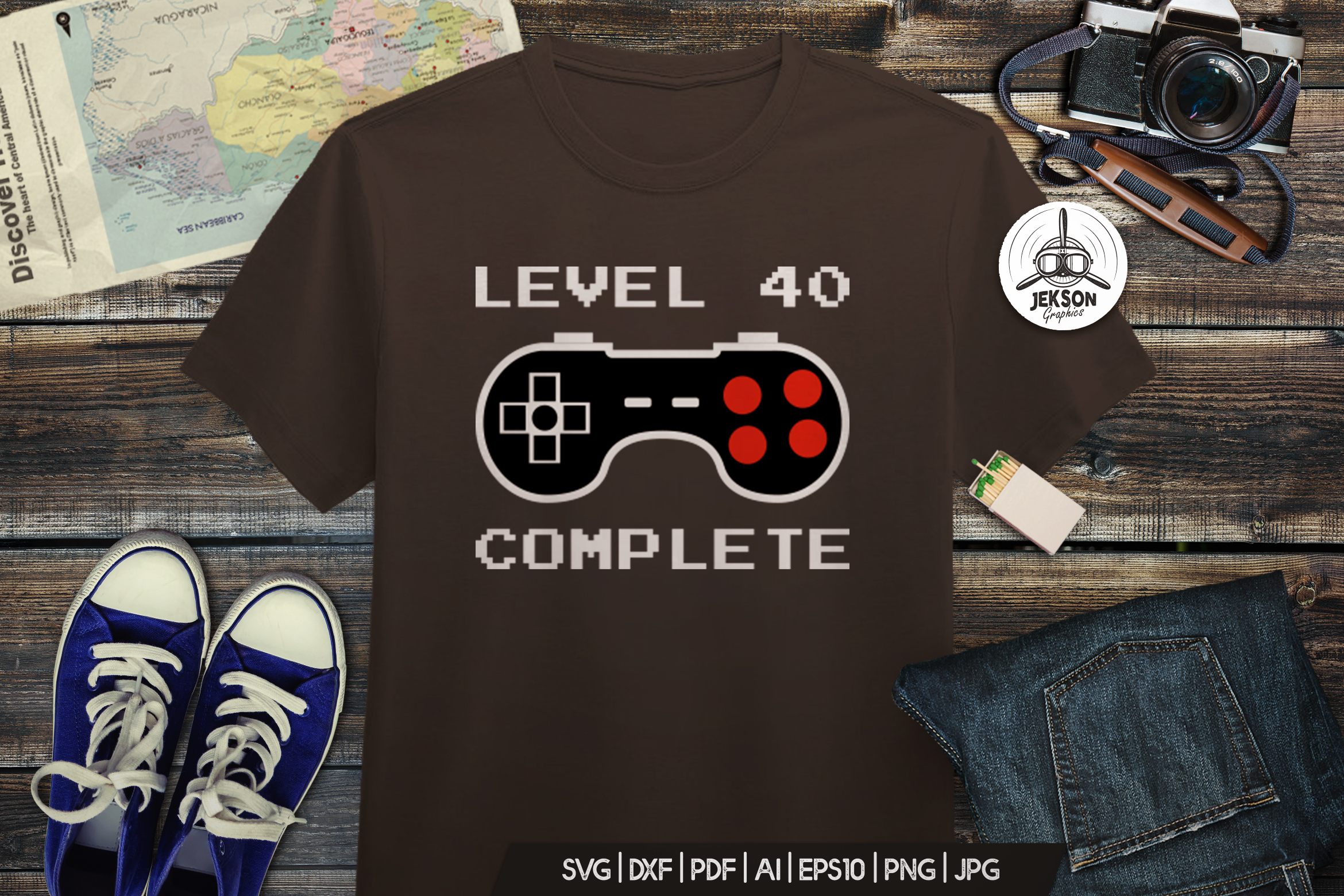 40th Birthday Retro Design / Anniversary T-Shirt SVG Cricut example image 2