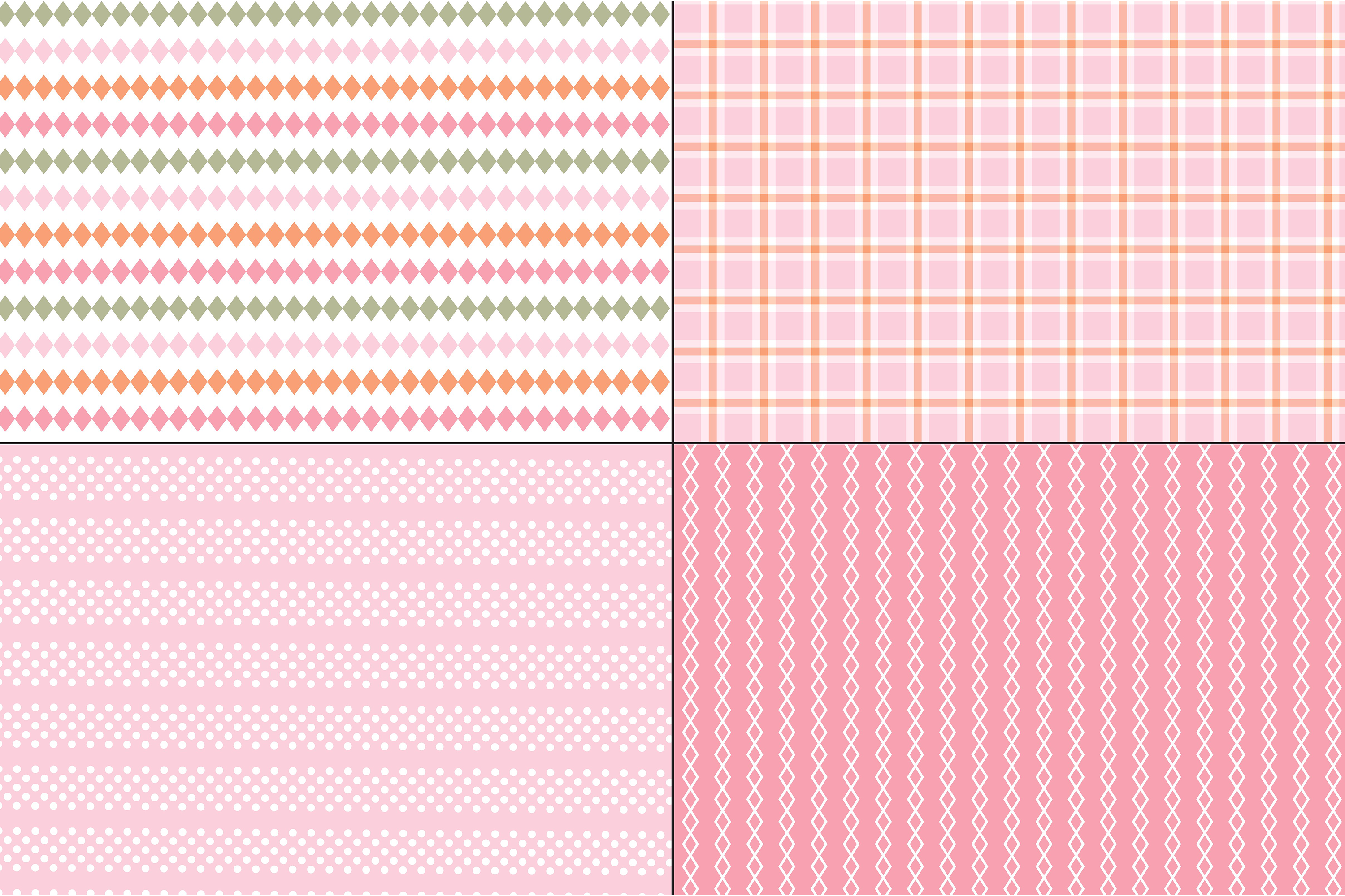 Pink and Orange Plaids & Stripes example image 3