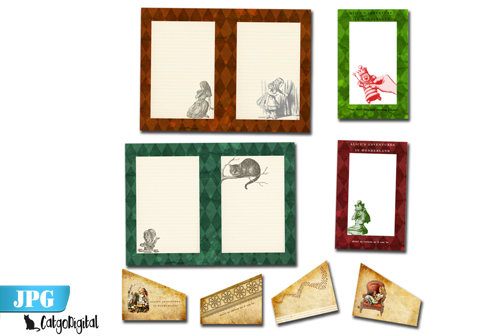 Printable Journal Alice in Wonderland example image 3