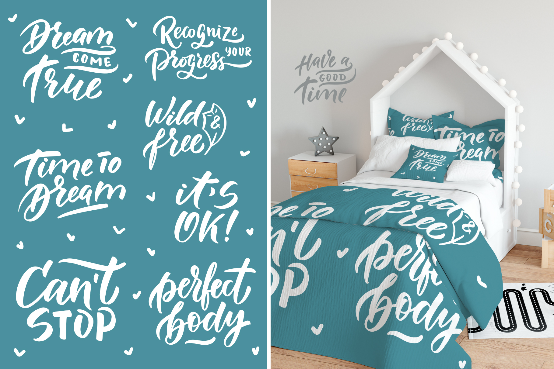 Popular phrases lettering set example image 9