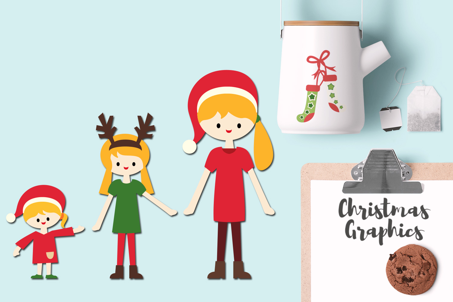 Christmas Family Illustrations example image 2