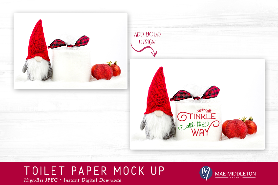Toilet Paper Roll Mock up for Christmas example image 2