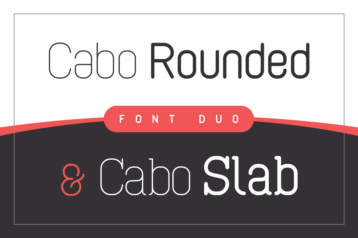 Cabo Rounded and Slab - Font Duo example image 1