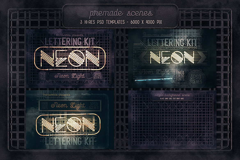 Neon Light Lettering Kit example image 11