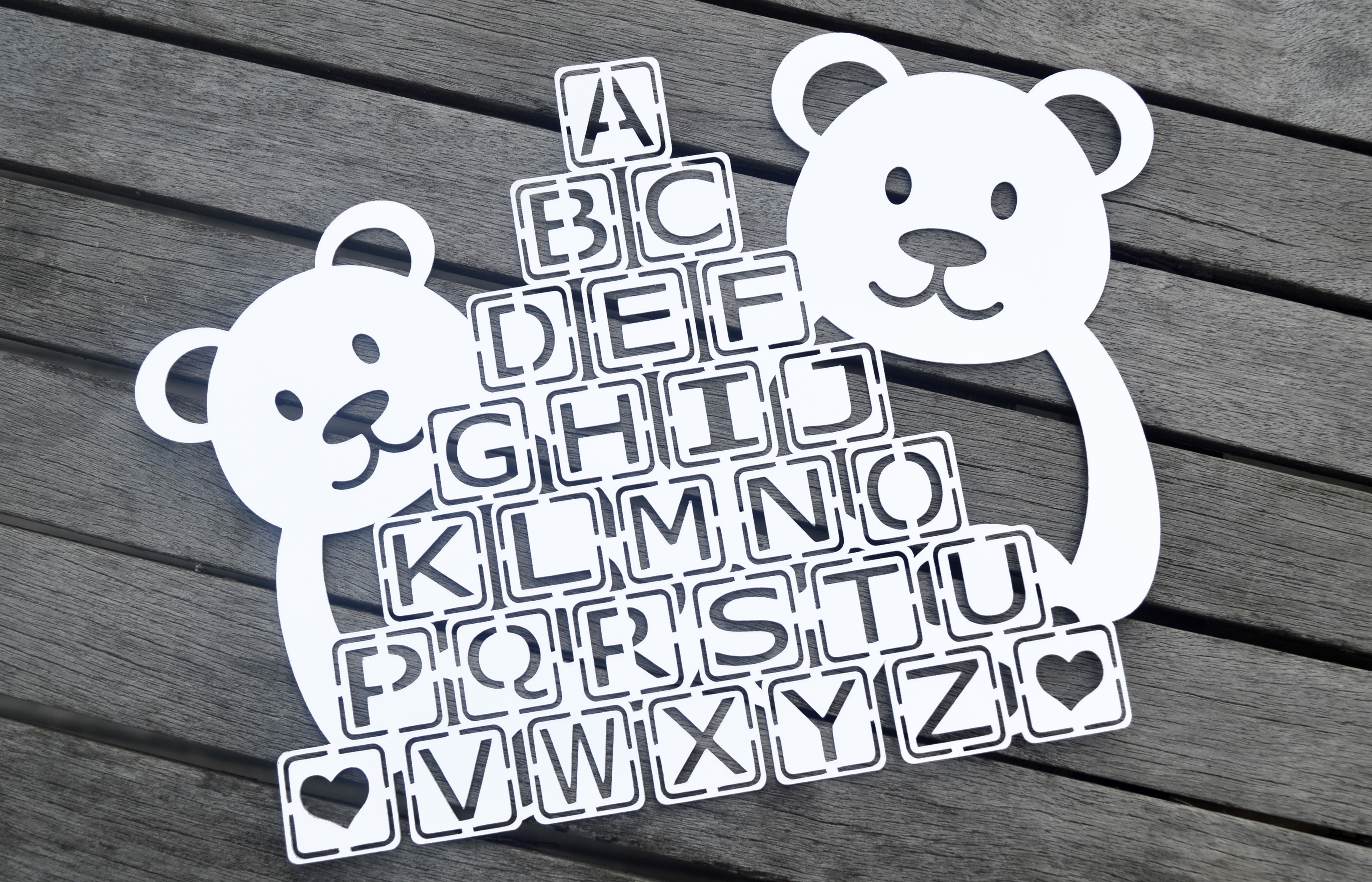 Teddy Bear Paper Cut SVG / DXF / EPS Files example image 3