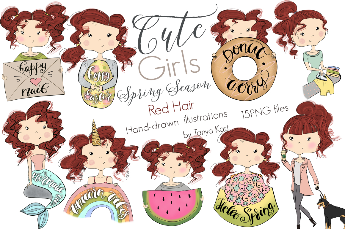 Cute Planners Girls Spring Collections Bundle example image 3