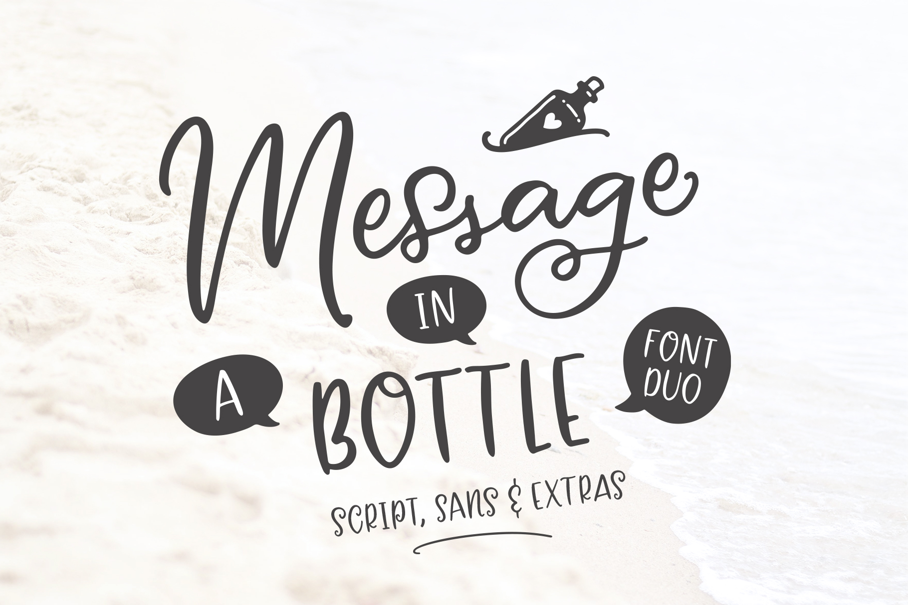 Message In A Bottle Font Duo And Extras example image 1