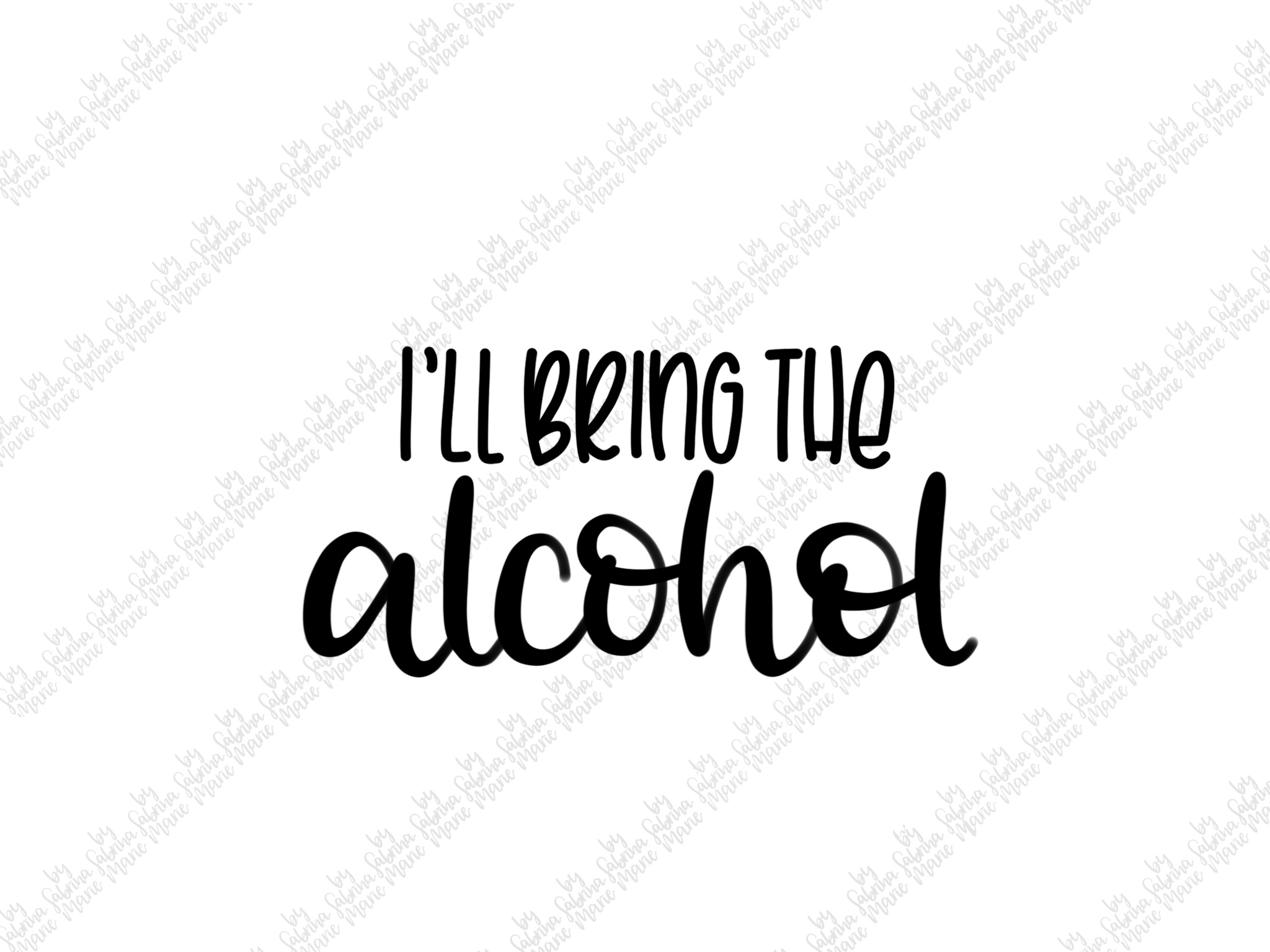 Booze Quote Bundle|Handdrawn|Cut Files|SVGs|PNGs|Alcohol example image 3