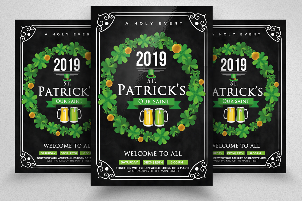 4 St. Patrick's Day Flyers Bundle example image 5