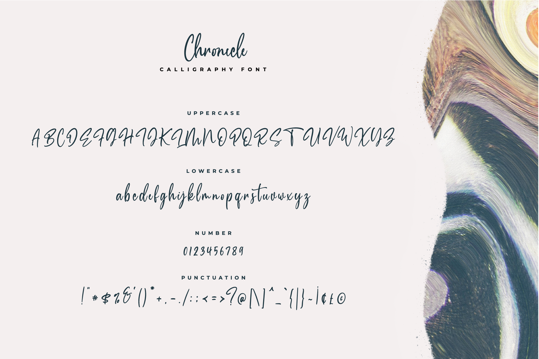 Chronicle Calligraphy Font example image 9