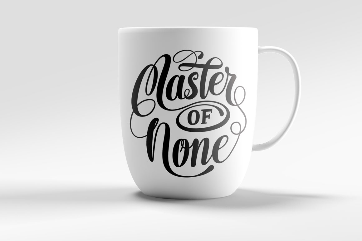 Master of None Lettering SVG example image 1