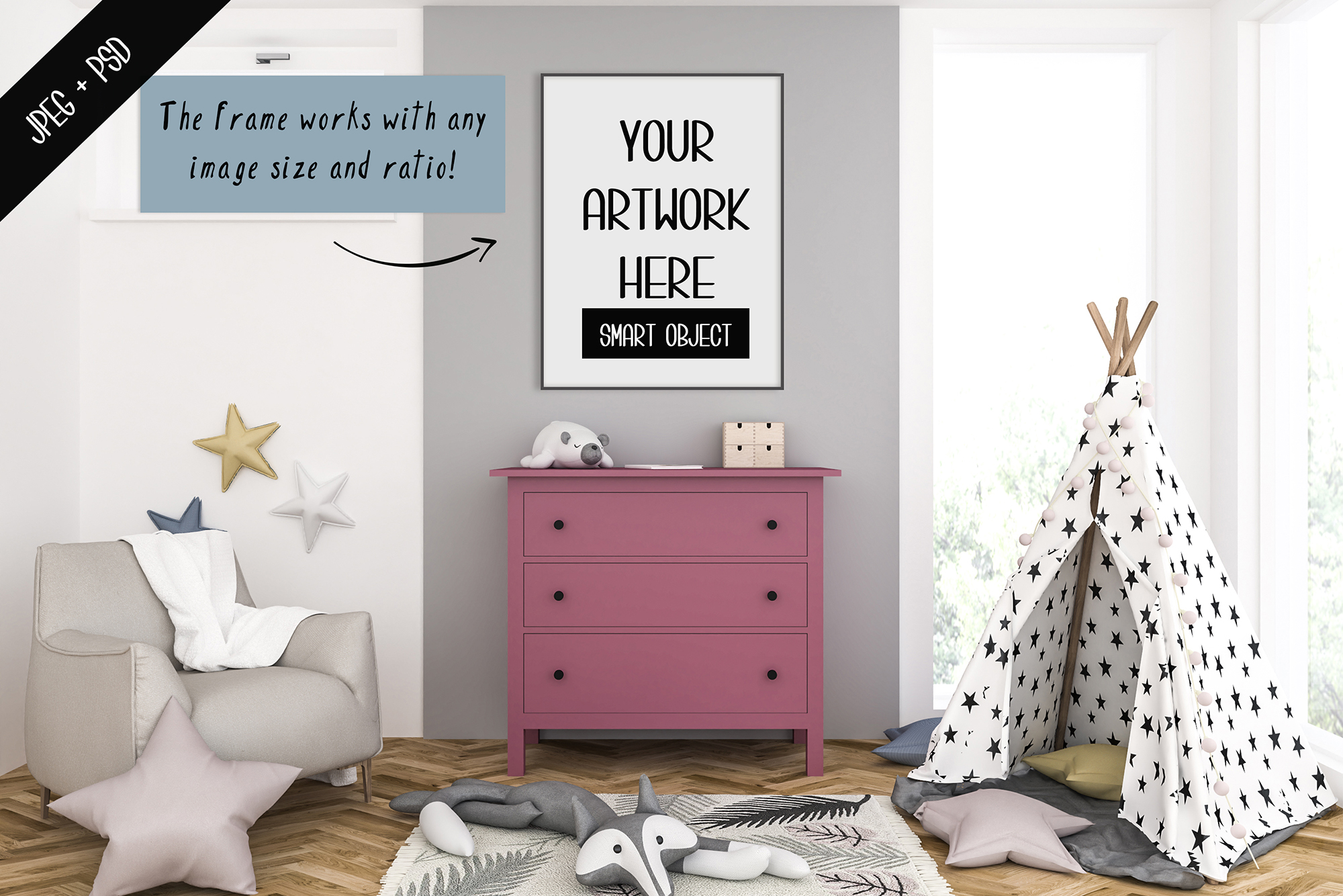 Frame mockup creator - All image size - Interior mockup example image 2