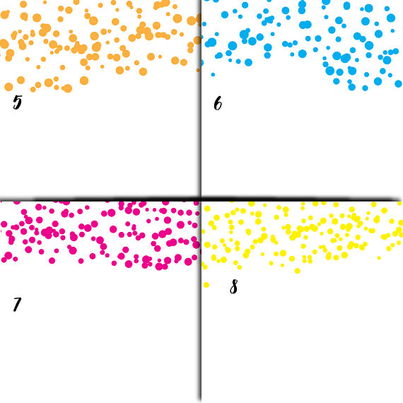 Colorful Confetti Overlay Clipart example image 4