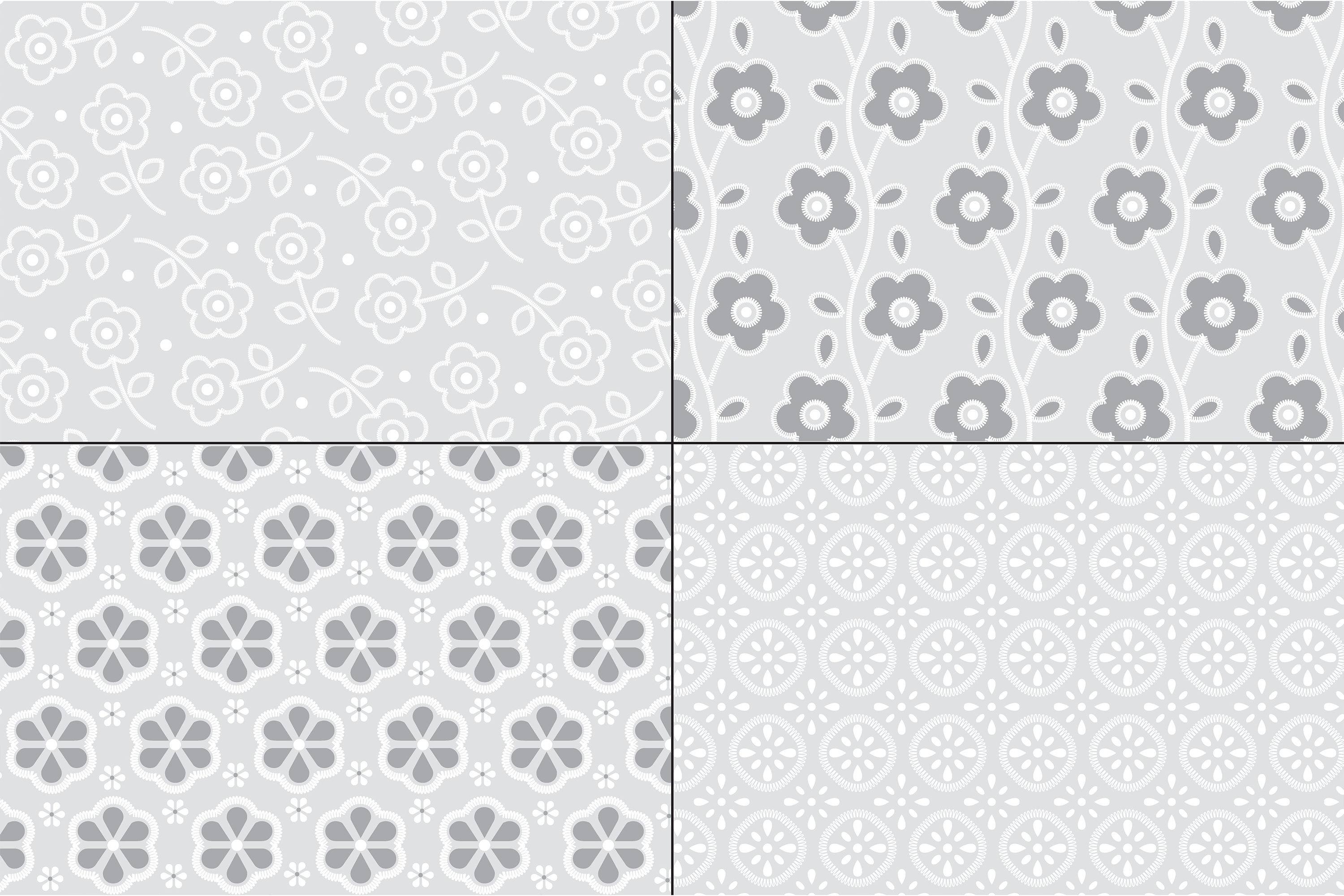 Gray Eyelet Embroidery Patterns example image 2