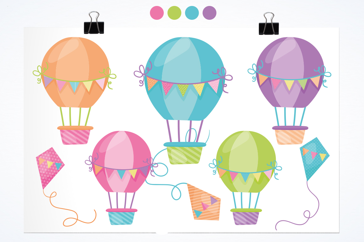 Hot Air Balloon graphic and illustrations example image 2
