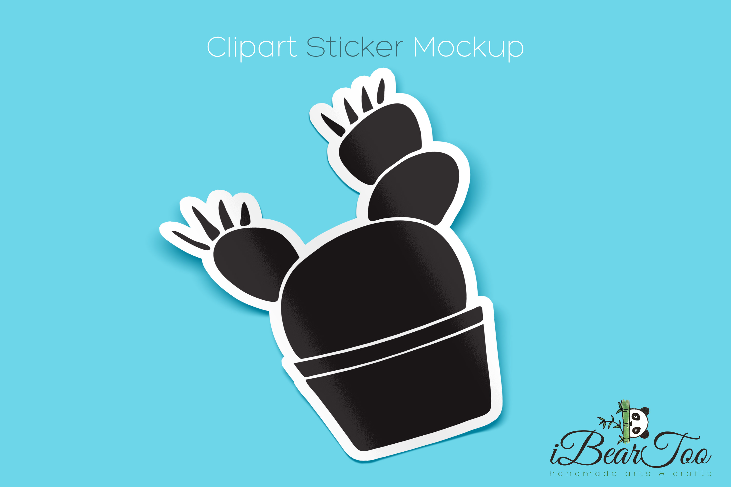 Cactus SVG Black Clipart Succulent Drawing Vector Cut File example image 4