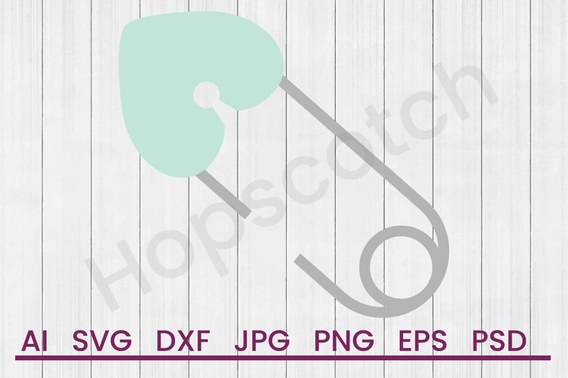 Diaper Pin SVG, DXF File, Cuttatable File example image 1