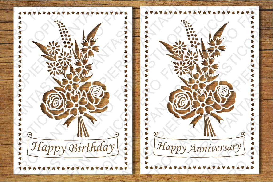 Happy Birthday Happy Anniversary Greeting Card Blank Svg Files For Silhouette Cameo And Cricut Clipart Png Transparent Included