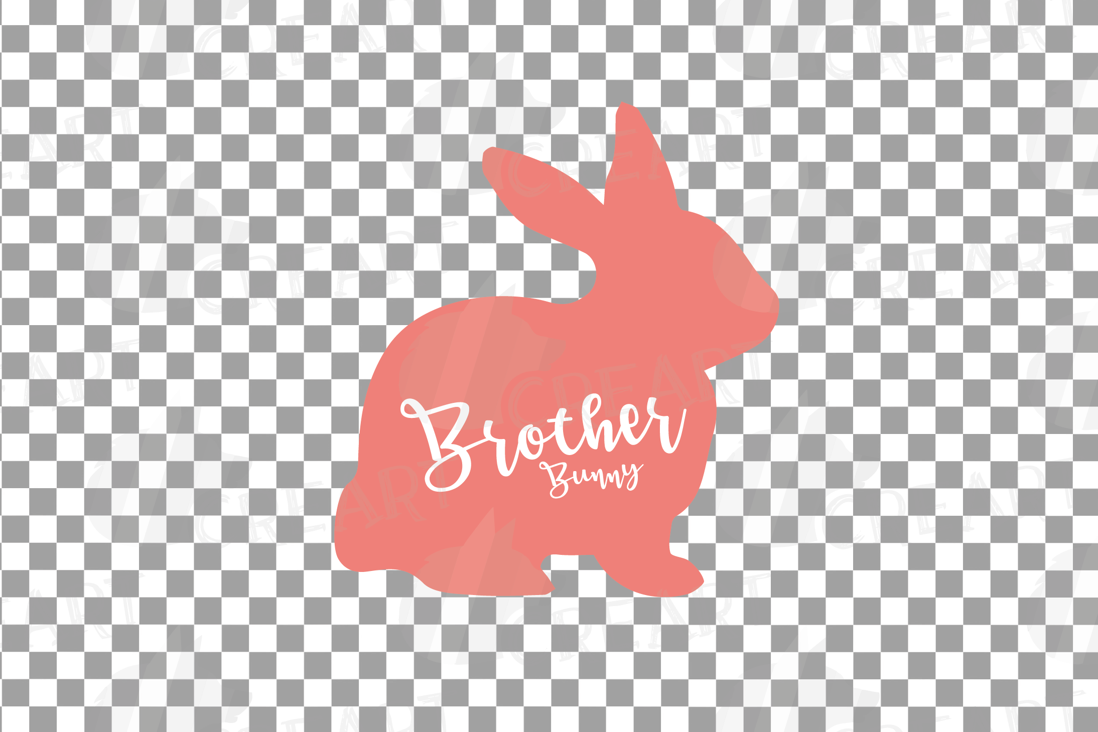 Rabbit family silhouettes, bunny silhouette svg cutting file example image 20
