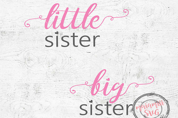 Big Sister Little Sister Svg, Sister Svg, Heart Svg, Love example image 1
