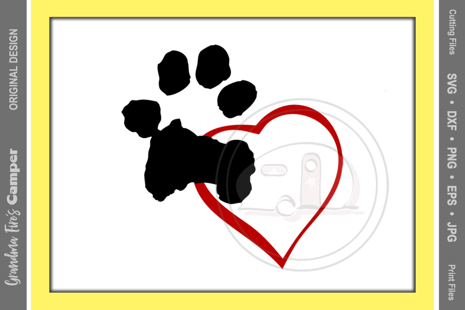 Download Paw Print Love SVG, Dog Paw Print, Heart (68912) | SVGs ...