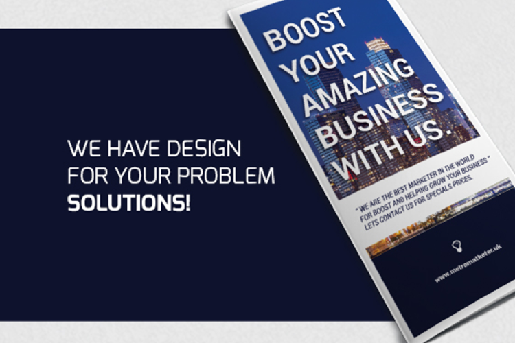 Modern Business Trifold Brochure Photoshop Template example image 2
