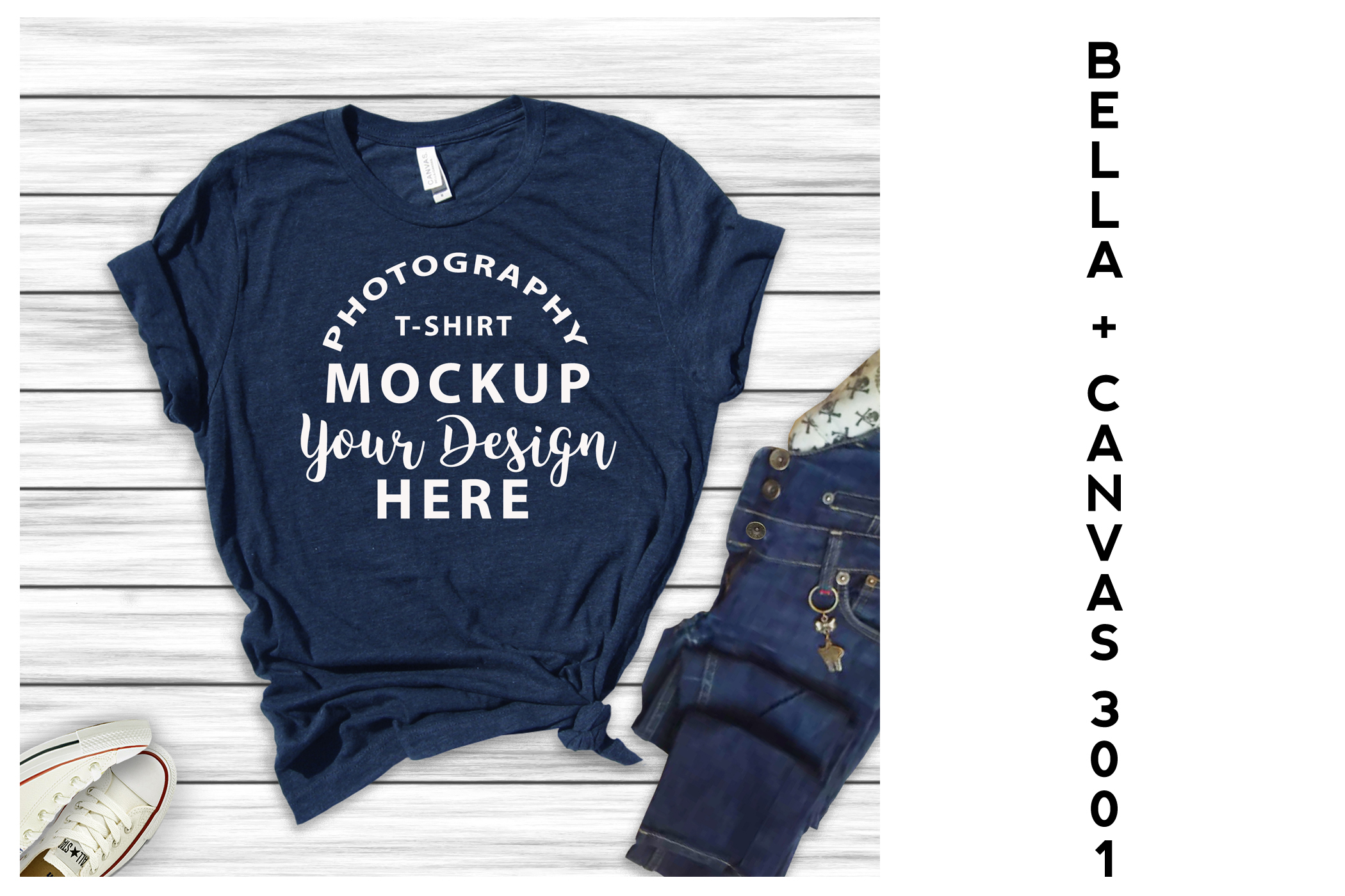 Bella Canvas 3001 All Heather T-shirts 16 mock-ups Bundle example image 1