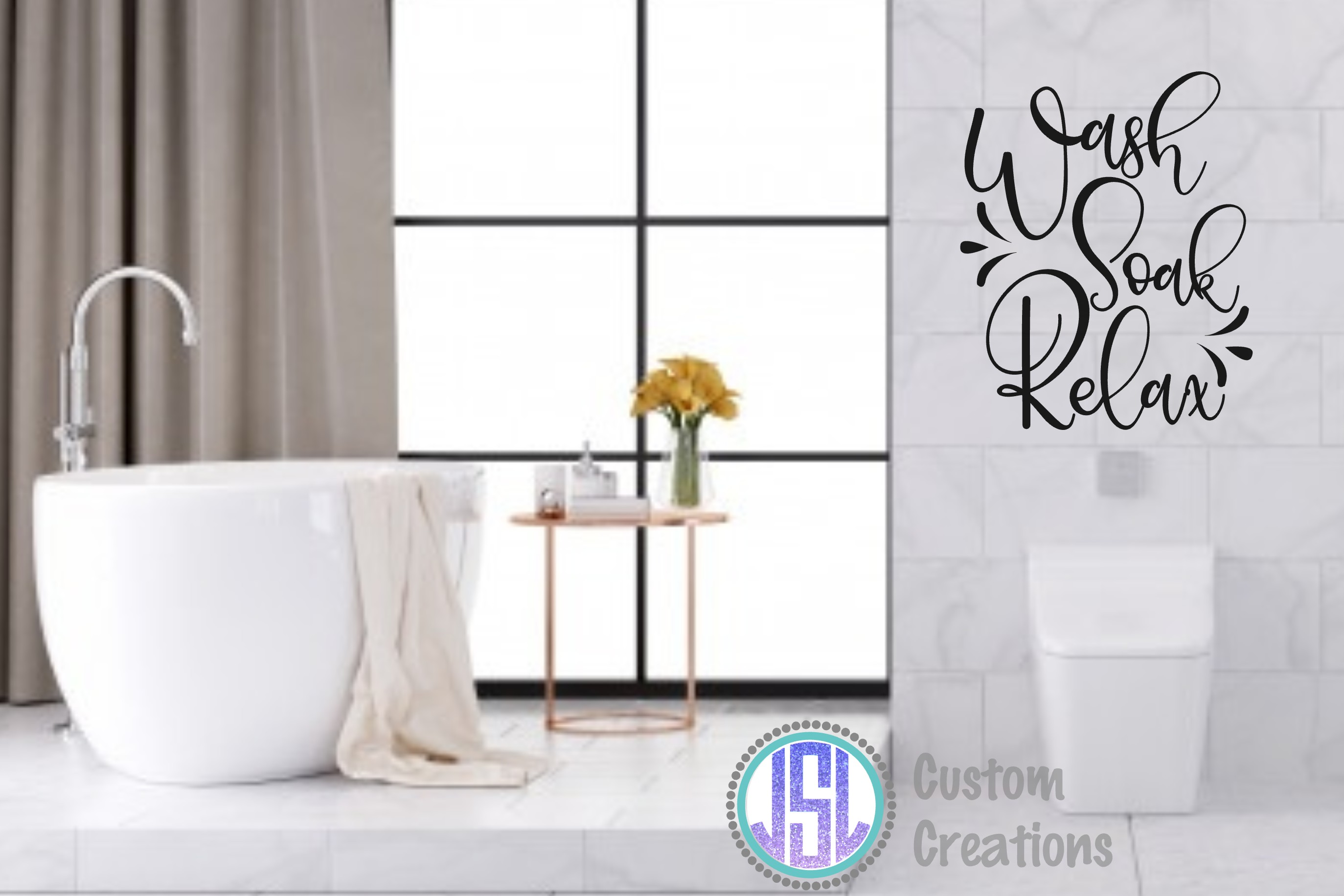 Bathroom Quotes Bundle | Set of 10 | SVG DXF EPS PNG example image 9