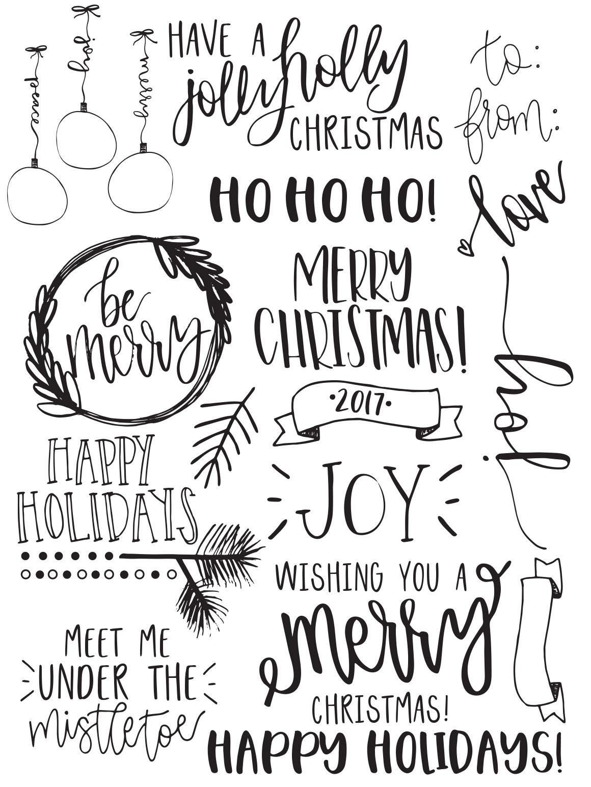40 Christmas Photo Overlays + FREE symbols font