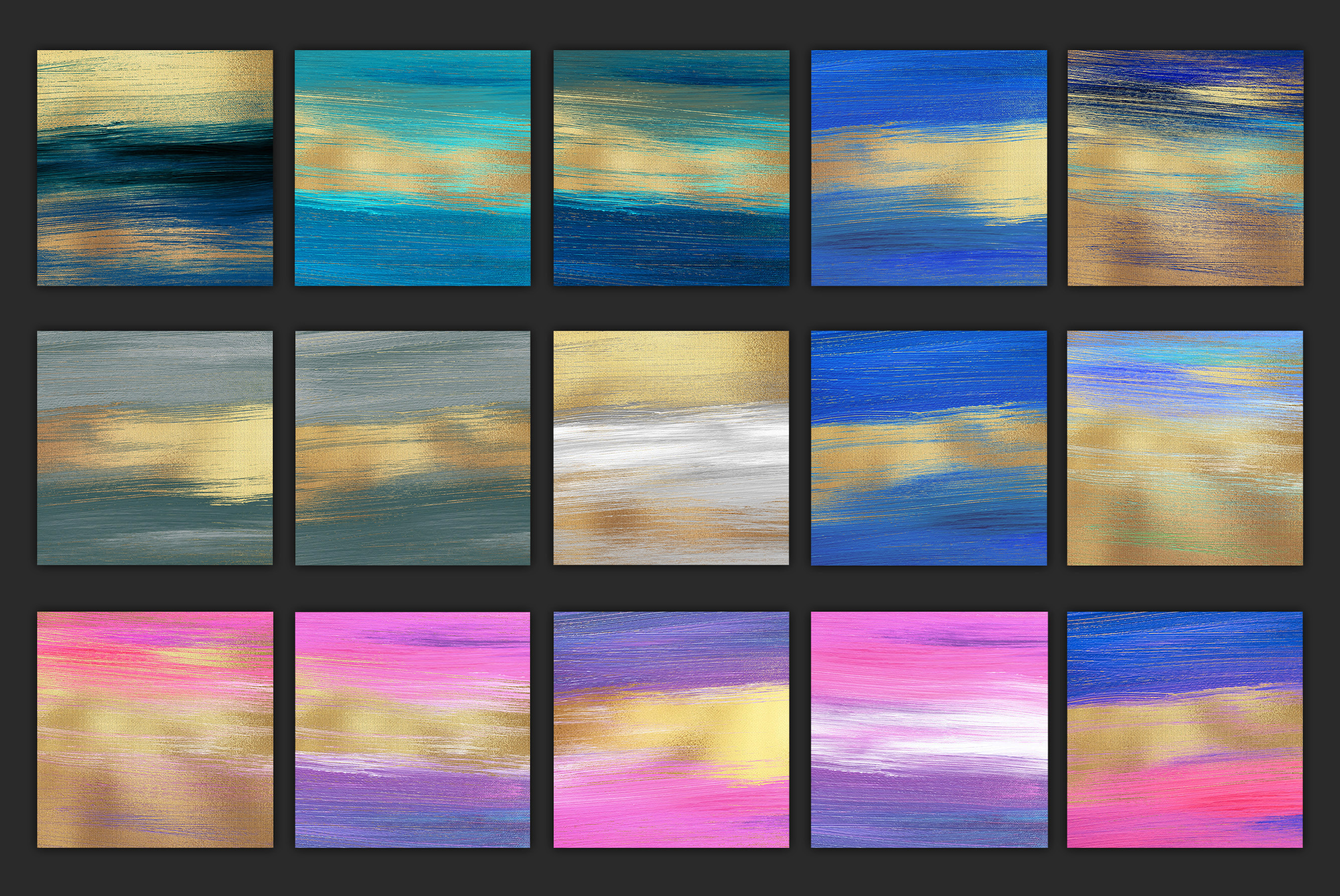 Gold Oil Paint Backgrounds example image 13