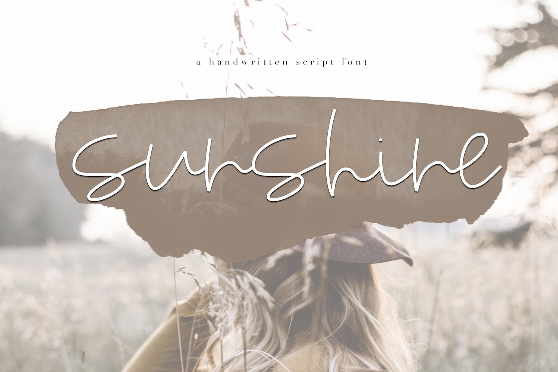 Sunshine - A Handwritten Script Font example image 1
