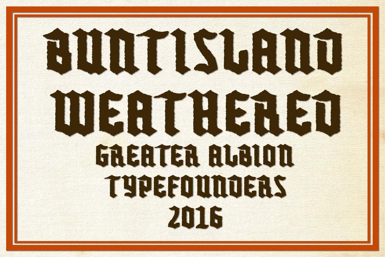 Buntisland Typeface Family example image 17