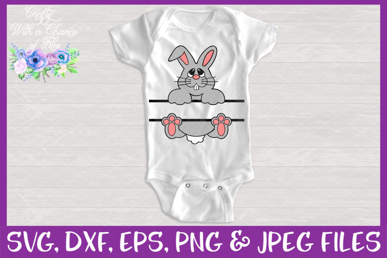 Split Bunny SVG - Monogram Easter Designs example image 2