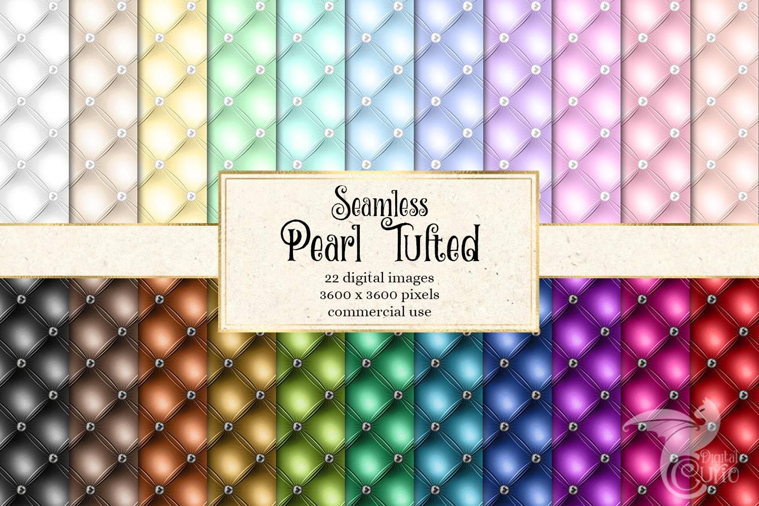 Pearl Tufted Digital Paper example image 1