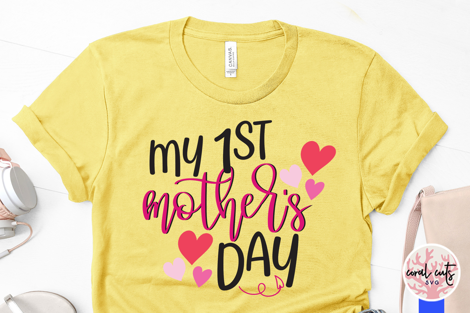 My 1st mother's day - Mother SVG EPS DXF PNG File example image 3