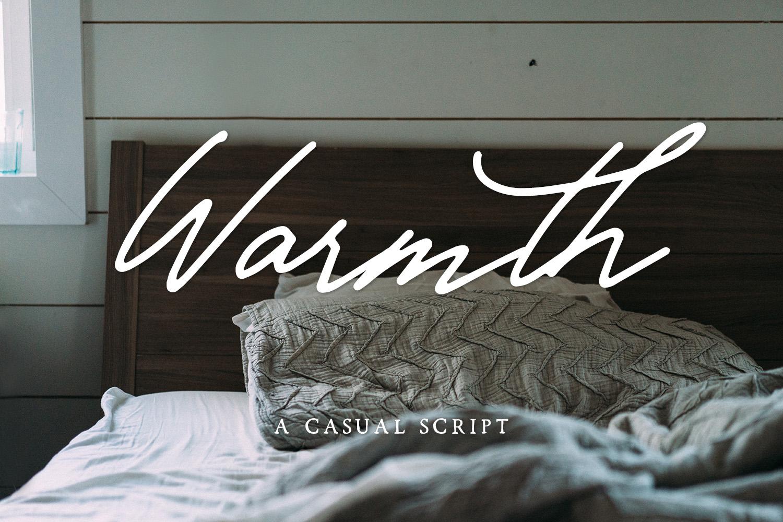 Warmth Casual Script example image 1