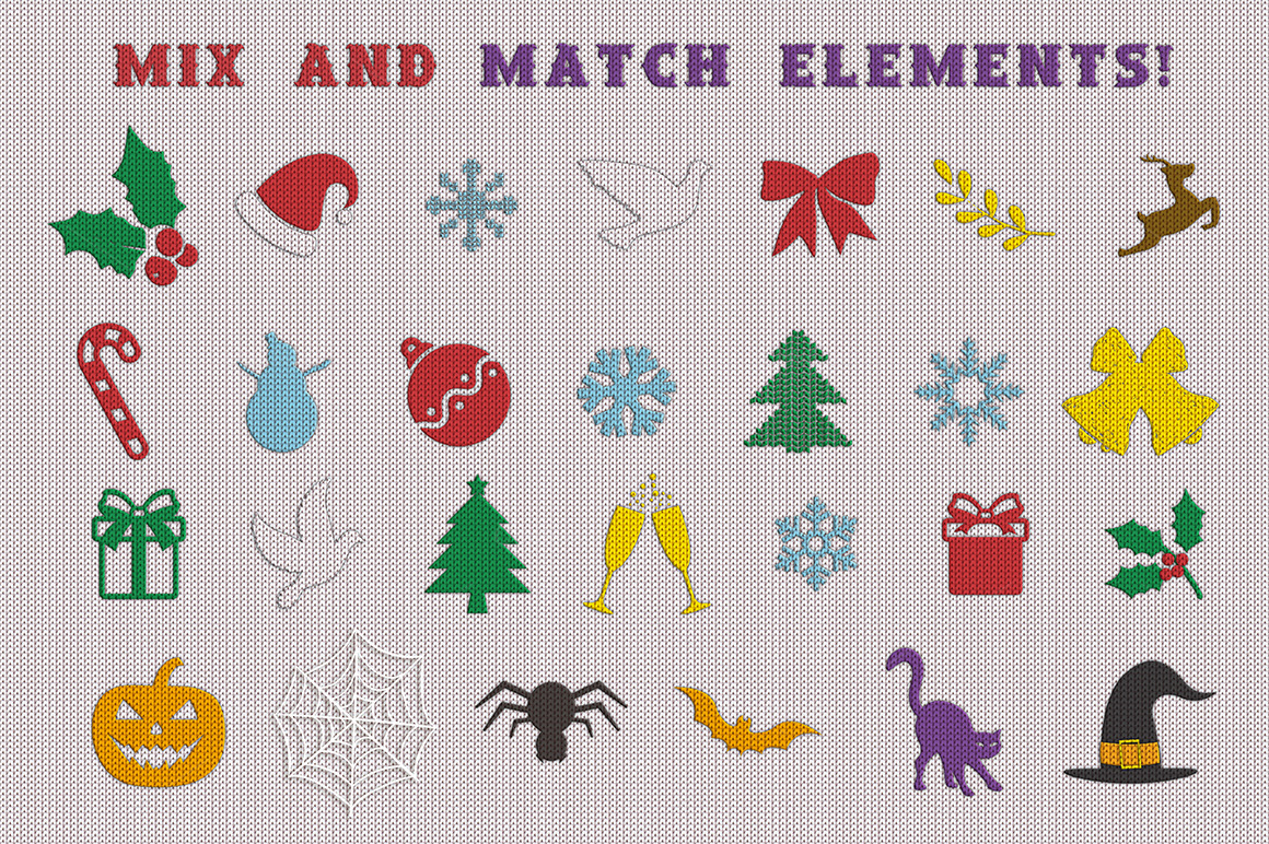 Christmas Knit Flyer Text Effect Creator example image 2