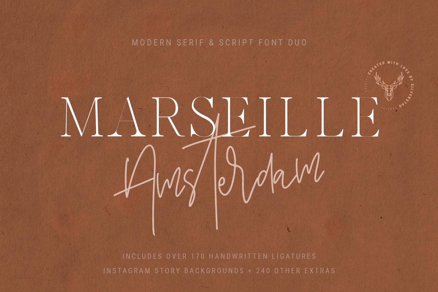 Marseille & Amsterdam - Modern Serif & Signature Font Duo example image 19