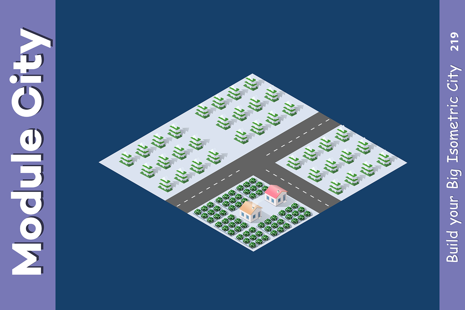 Isometric set module city example image 3
